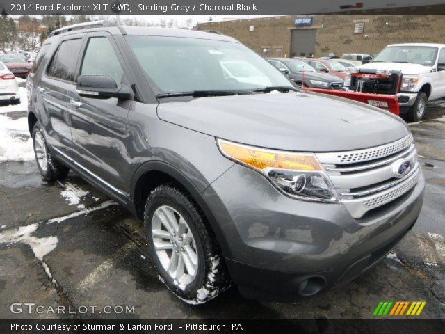 sterling gray 2014 ford explorer xlt 4wd charcoal black interior 2014