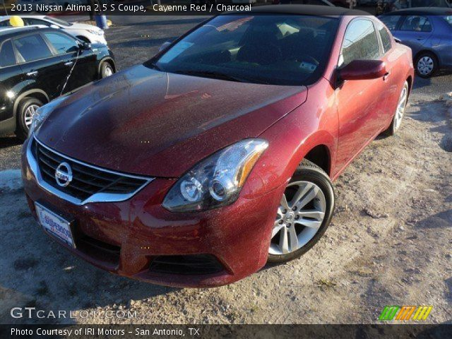 Cayenne Red 2013 Nissan Altima 2 5 S Coupe Charcoal Interior Vehicle