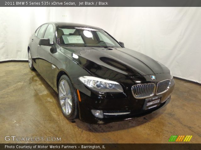 jet black 2011 bmw 5 series 535i xdrive sedan black interior vehicle. Black Bedroom Furniture Sets. Home Design Ideas