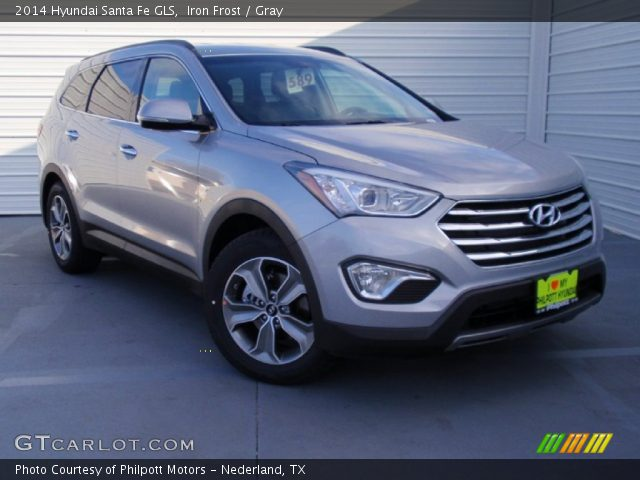 iron frost 2014 hyundai santa fe gls gray interior vehicle archive 90277162. Black Bedroom Furniture Sets. Home Design Ideas