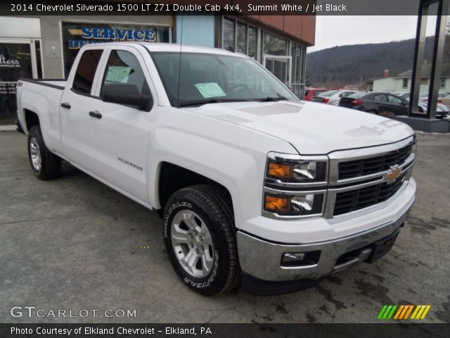 summit white 2014 chevrolet silverado 1500 lt z71 double cab 4x4 jet black interior. Black Bedroom Furniture Sets. Home Design Ideas