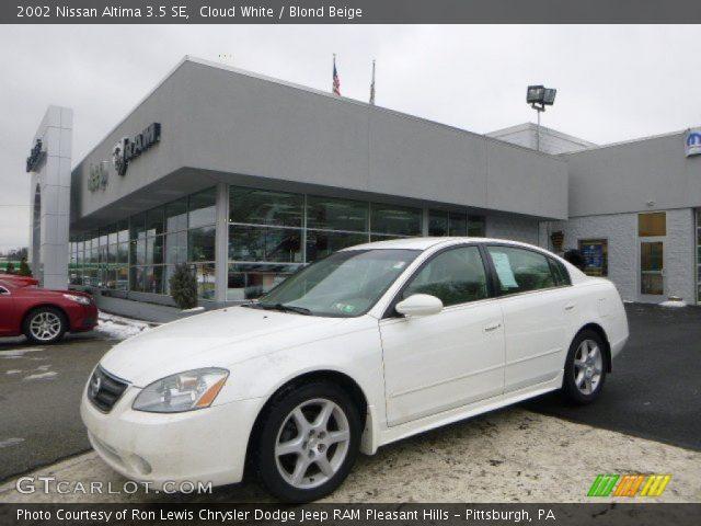 Cloud White 2002 Nissan Altima 35 Se Blond Beige Interior