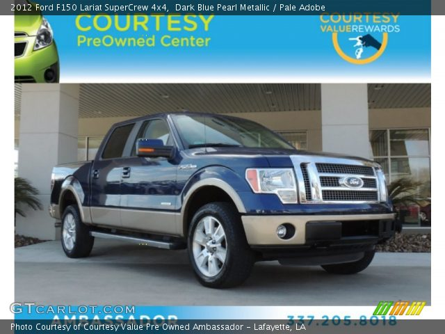 2012 Ford F150 Lariat SuperCrew 4x4 in Dark Blue Pearl Metallic