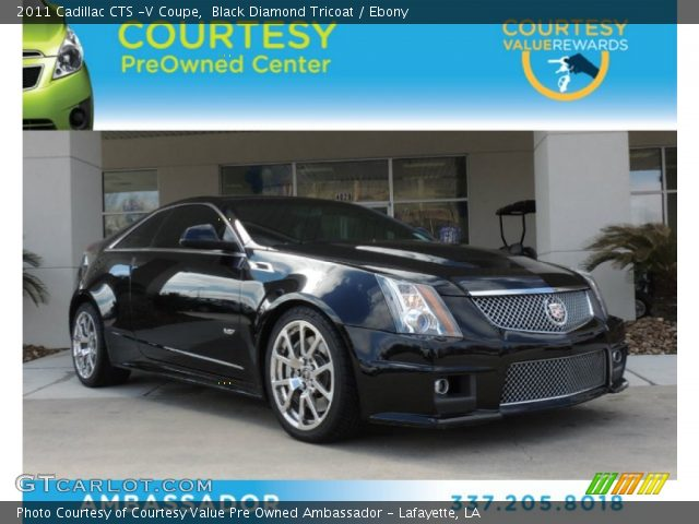 2011 Cadillac CTS -V Coupe in Black Diamond Tricoat