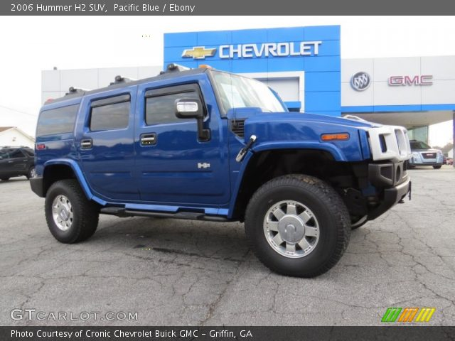 2006 Hummer H2 SUV in Pacific Blue