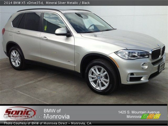 2014 BMW X5 xDrive35d in Mineral Silver Metallic