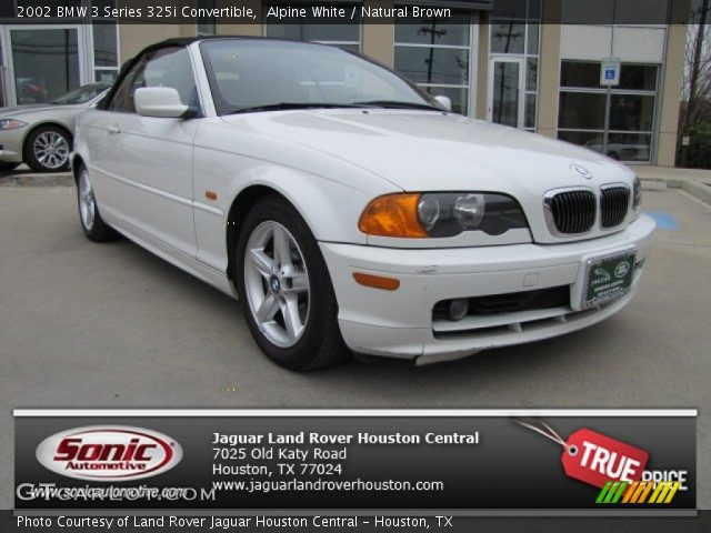 2002 BMW 3 Series 325i Convertible in Alpine White