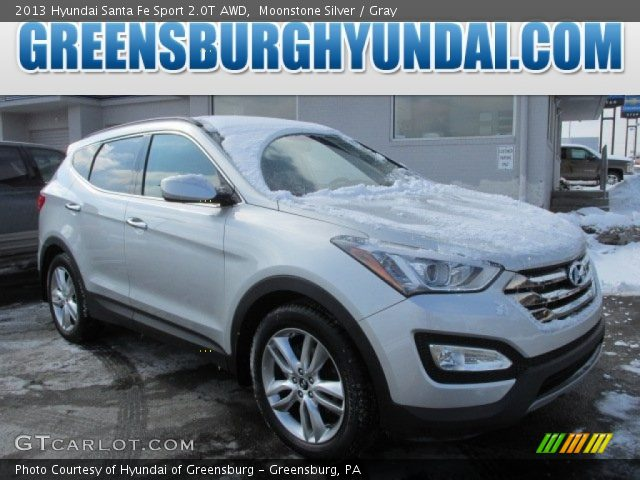 moonstone silver 2013 hyundai santa fe sport 2 0t awd gray interior vehicle. Black Bedroom Furniture Sets. Home Design Ideas