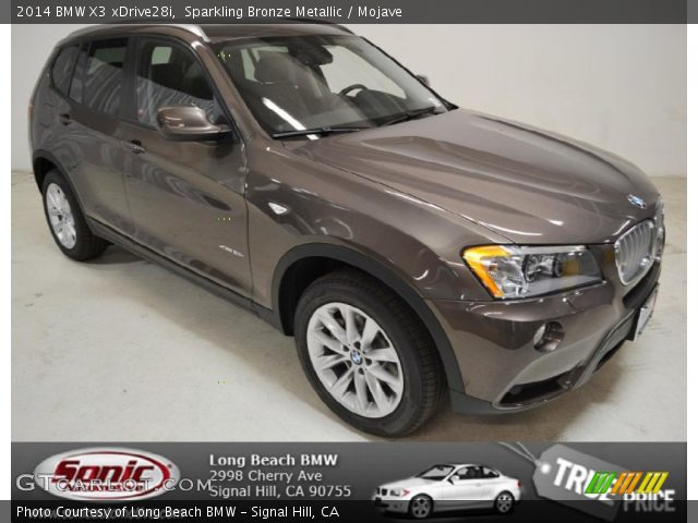 Sparkling Bronze Metallic 2014 Bmw X3 Xdrive28i Mojave Interior Vehicle