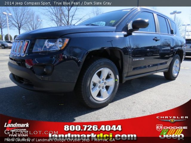 true blue pearl 2014 jeep compass sport dark slate. Black Bedroom Furniture Sets. Home Design Ideas