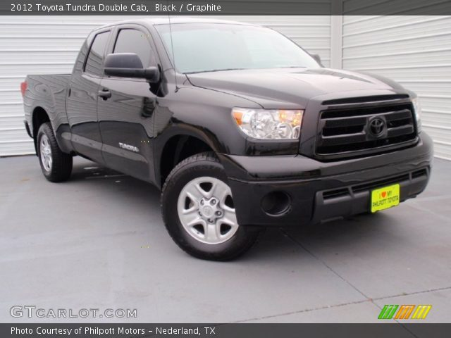black 2012 toyota tundra double cab graphite interior vehicle archive 90677859. Black Bedroom Furniture Sets. Home Design Ideas