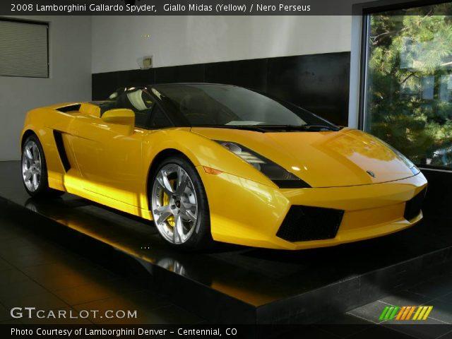 2008 Lamborghini Gallardo Spyder in Giallo Midas (Yellow)