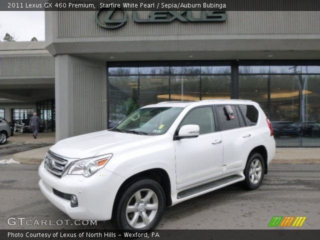 starfire white pearl 2011 lexus gx 460 premium sepia. Black Bedroom Furniture Sets. Home Design Ideas