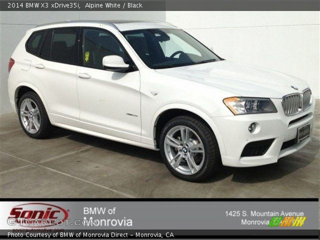 Alpine White 2014 Bmw X3 Xdrive35i Black Interior Vehicle Archive 90745764