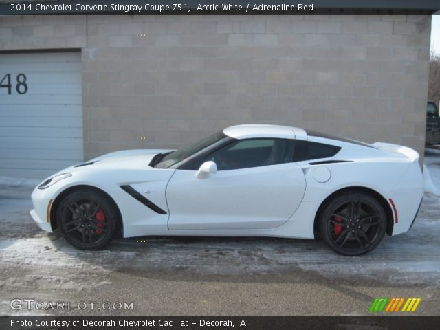 arctic white 2014 chevrolet corvette stingray coupe z51 adrenaline. Cars Review. Best American Auto & Cars Review