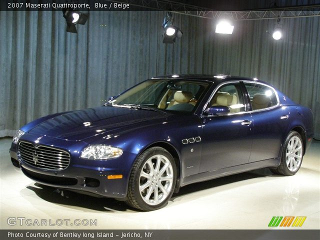blue 2007 maserati quattroporte beige interior vehicle archive 90821. Black Bedroom Furniture Sets. Home Design Ideas
