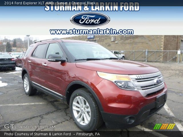 Sunset 2014 Ford Explorer Xlt 4wd Charcoal Black Interior Vehicle Archive