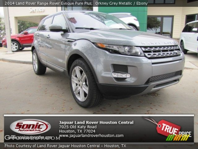 orkney grey metallic 2014 land rover range rover evoque pure plus ebony interior gtcarlot. Black Bedroom Furniture Sets. Home Design Ideas