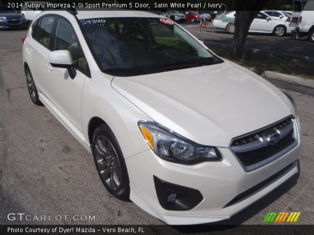 satin white pearl 2014 subaru impreza sport premium 5 door ivory interior gtcarlot. Black Bedroom Furniture Sets. Home Design Ideas