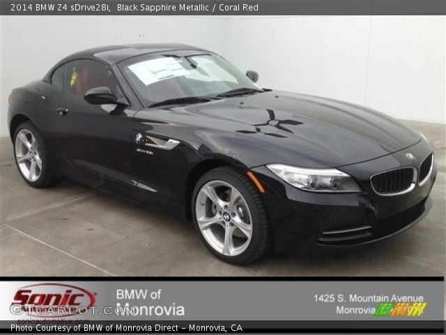 black sapphire metallic 2014 bmw z4 sdrive28i coral. Black Bedroom Furniture Sets. Home Design Ideas