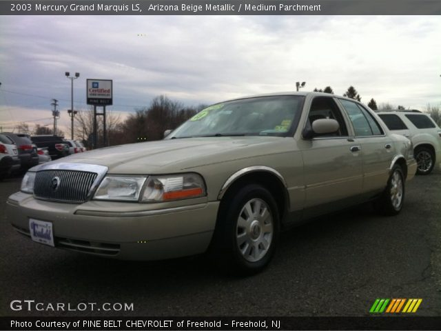 arizona beige metallic 2003 mercury grand marquis ls medium parchment interior gtcarlot. Black Bedroom Furniture Sets. Home Design Ideas