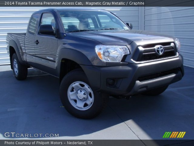 magnetic gray metallic 2014 toyota tacoma prerunner access cab graphite interior gtcarlot. Black Bedroom Furniture Sets. Home Design Ideas