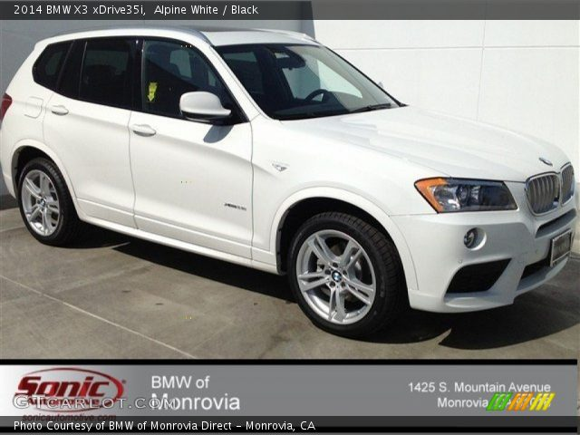 Alpine White 2014 Bmw X3 Xdrive35i Black Interior Vehicle Archive 91092296