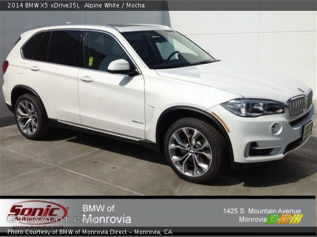 alpine white 2014 bmw x5 xdrive35i mocha interior vehicle archive 91214250. Black Bedroom Furniture Sets. Home Design Ideas