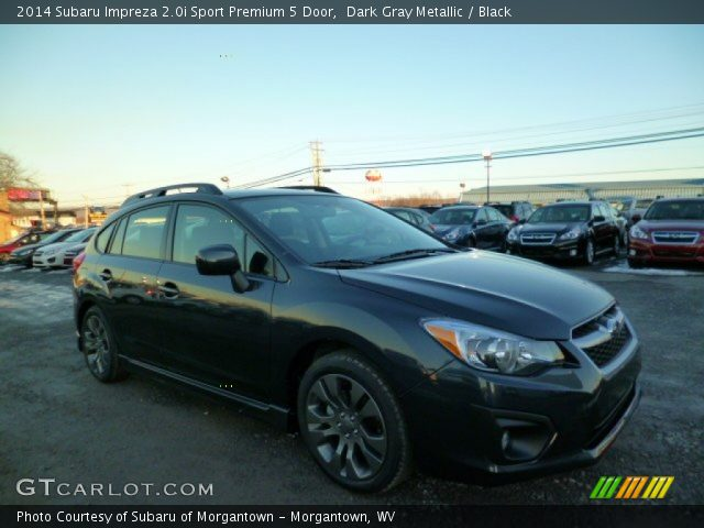 dark gray metallic 2014 subaru impreza sport premium 5 door black interior gtcarlot. Black Bedroom Furniture Sets. Home Design Ideas