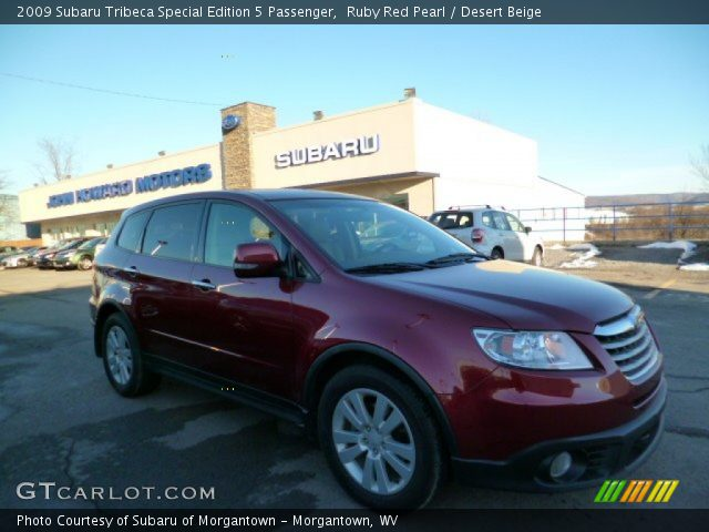 2009 Subaru Tribeca Special Edition 5 Passenger in Ruby Red Pearl