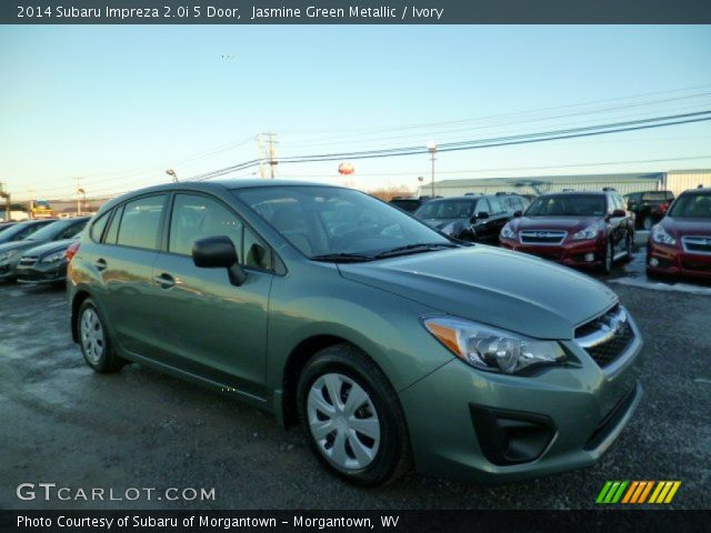 jasmine green metallic 2014 subaru impreza 5 door ivory interior. Black Bedroom Furniture Sets. Home Design Ideas