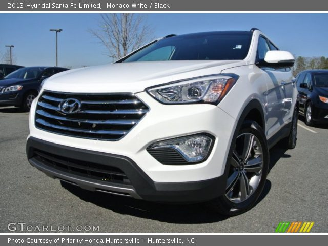 monaco white 2013 hyundai santa fe limited black interior vehicle archive. Black Bedroom Furniture Sets. Home Design Ideas