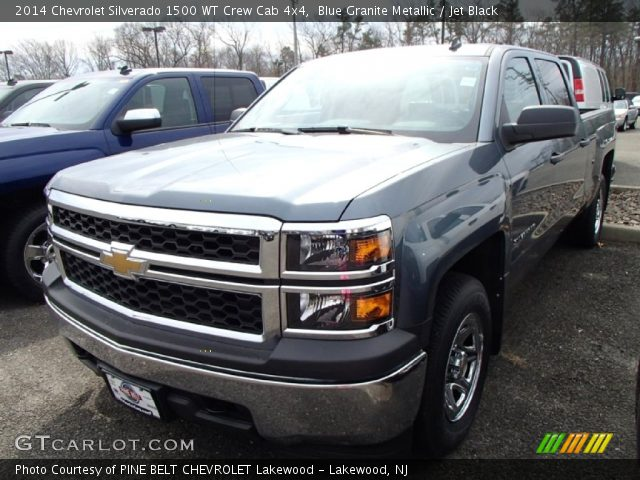 2014 Chevrolet Silverado 1500 WT Crew Cab 4x4 in Blue Granite Metallic