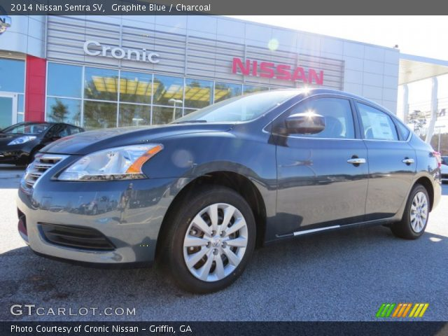 graphite blue 2014 nissan sentra sv charcoal interior vehicle archive 91408165. Black Bedroom Furniture Sets. Home Design Ideas