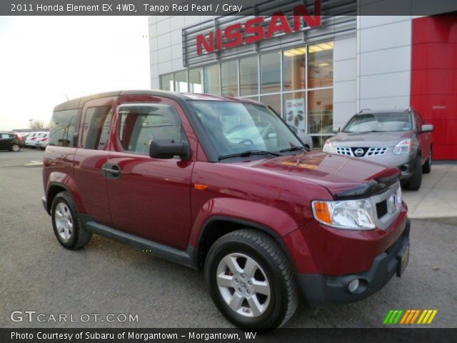 tango red pearl 2011 honda element ex 4wd gray interior vehicle archive. Black Bedroom Furniture Sets. Home Design Ideas
