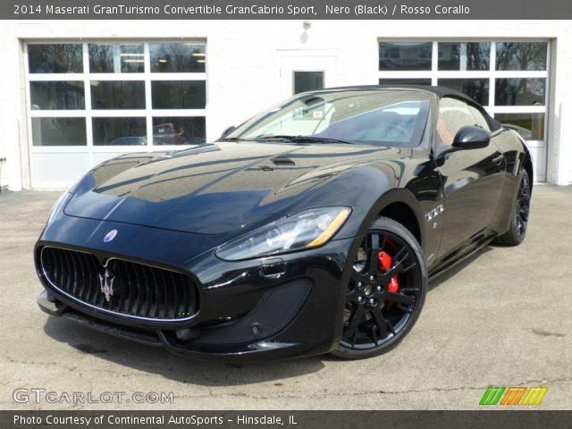Nero Black 2014 Maserati Granturismo Convertible Grancabrio Sport Rosso Corallo Interior