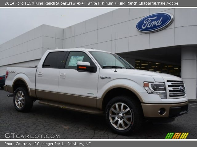 white platinum 2014 ford f150 king ranch supercrew 4x4 king ranch chaparral pale adobe. Black Bedroom Furniture Sets. Home Design Ideas