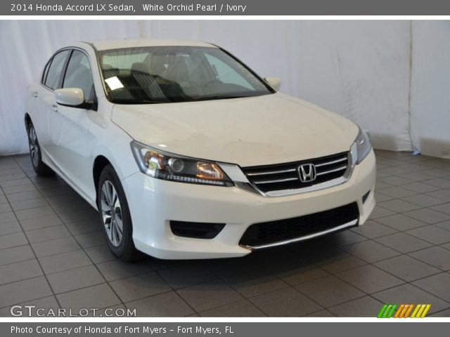 White orchid pearl 2014 honda accord lx sedan ivory for 2014 honda accord white