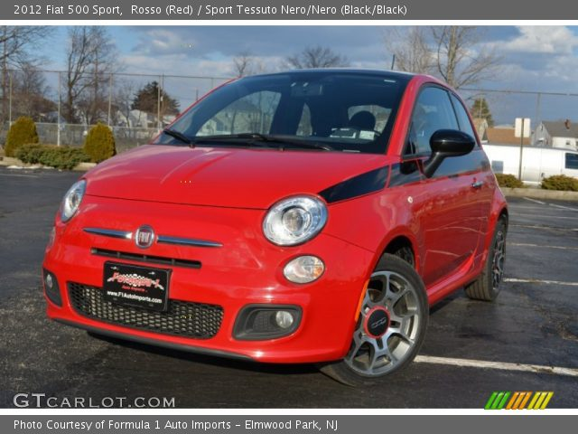 2012 Fiat 500 Sport in Rosso (Red)