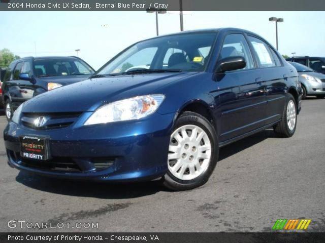 eternal blue pearl 2004 honda civic lx sedan gray interior vehicle archive. Black Bedroom Furniture Sets. Home Design Ideas