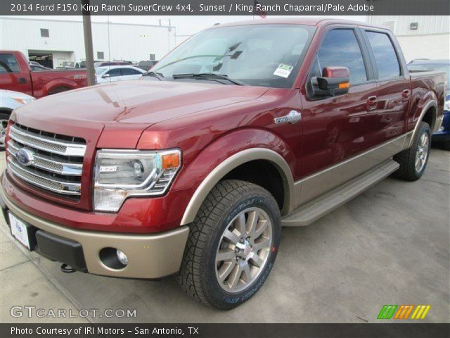 sunset 2014 ford f150 king ranch supercrew 4x4 king ranch chaparral pale adobe interior. Black Bedroom Furniture Sets. Home Design Ideas
