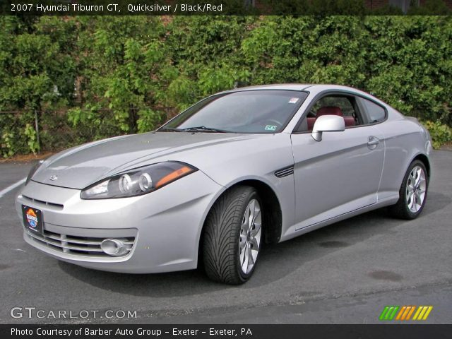 quicksilver 2007 hyundai tiburon gt black red interior. Black Bedroom Furniture Sets. Home Design Ideas