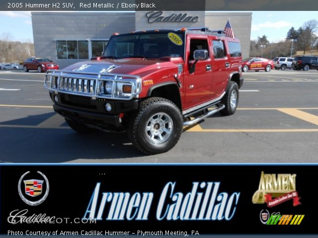2005 Hummer H2 SUV in Red Metallic