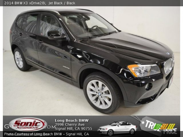 Jet Black 2014 Bmw X3 Xdrive28i Black Interior Vehicle Archive 91851704