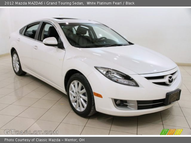 white platinum pearl 2012 mazda mazda6 i grand touring sedan black interior. Black Bedroom Furniture Sets. Home Design Ideas