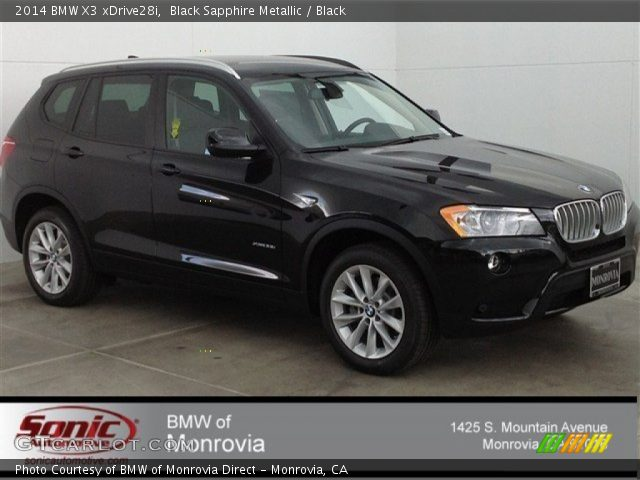 Black Sapphire Metallic 2014 Bmw X3 Xdrive28i Black Interior Vehicle