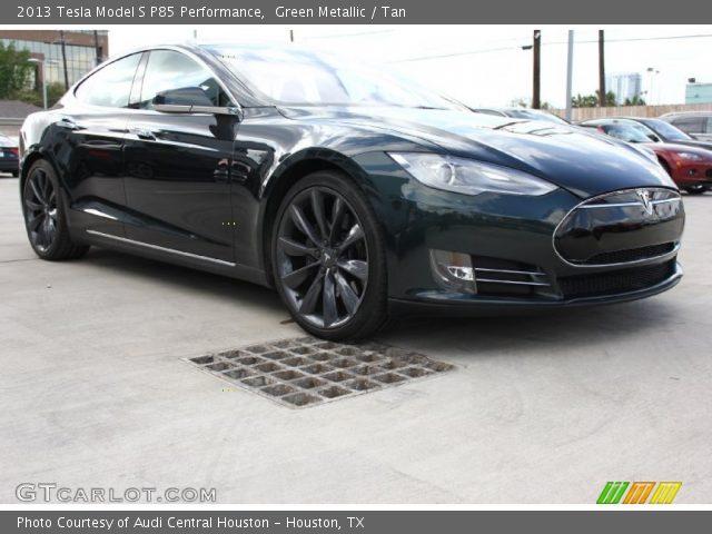 2013 Tesla Model S P85 Performance in Green Metallic