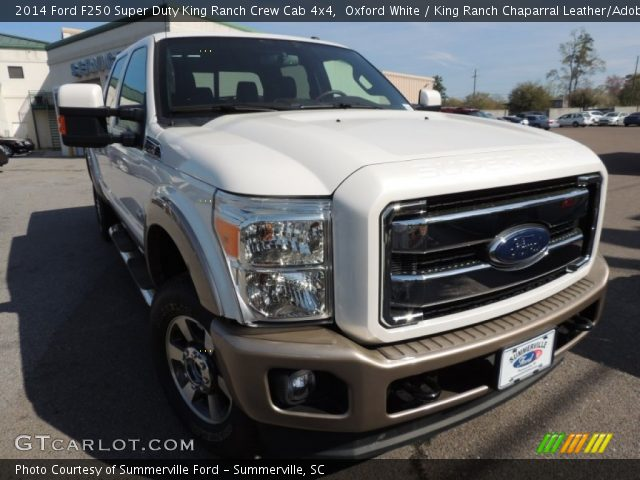 Oxford White 2014 Ford F250 Super Duty King Ranch Crew Cab 4x4 King Ranch Chaparral Leather