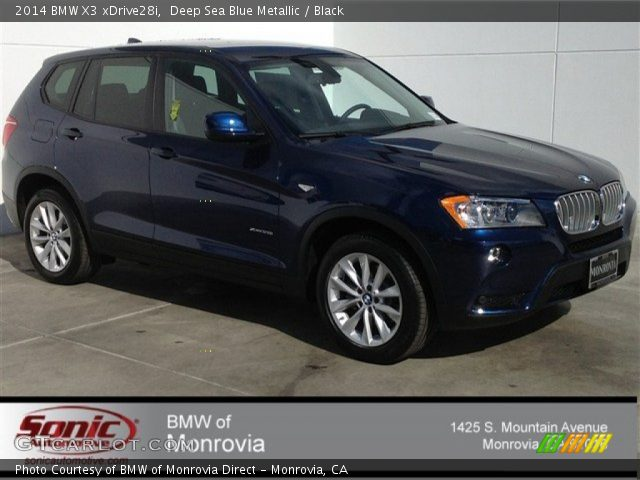 Deep Sea Blue Metallic 2014 Bmw X3 Xdrive28i Black Interior Vehicle Archive