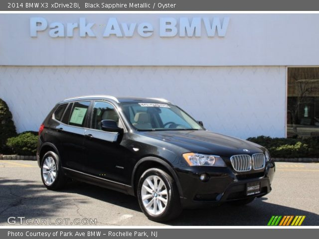 Black Sapphire Metallic 2014 Bmw X3 Xdrive28i Oyster Interior Vehicle
